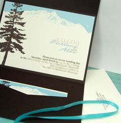 wedding invitations mountains theme | Wedding dresses, bride\'s hair ...