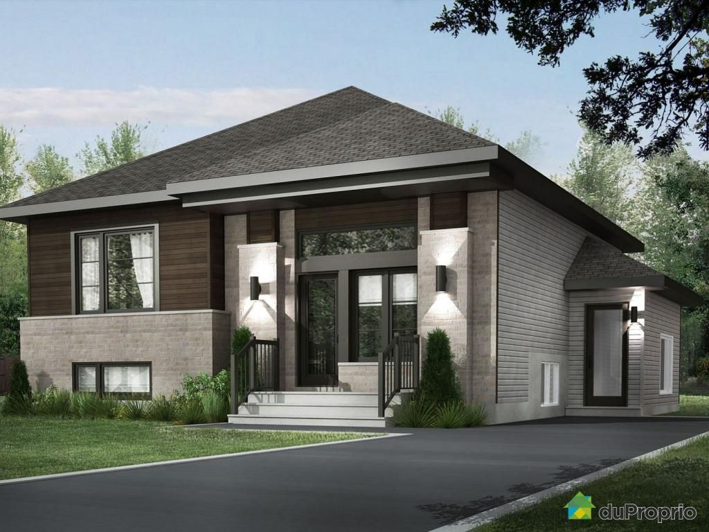 Facade maison contemporaine quebec recherche google for Plan maison neuve contemporaine