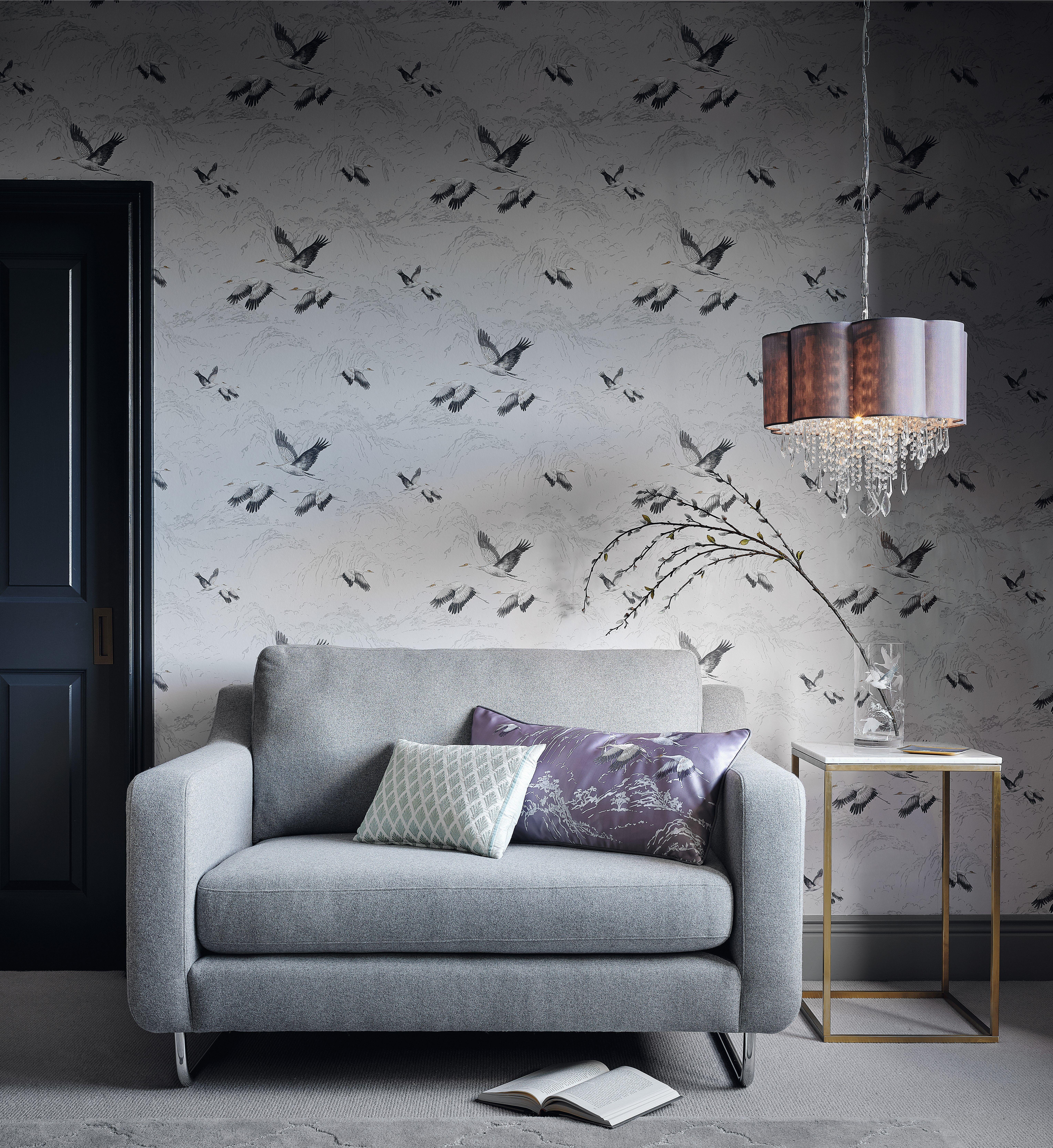 Animalia Silver Wallpaper In 2020 Minimal Furniture Colo
