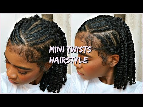 Mini Twists Protective Hairstyle For Natural Curly Hair Youtube In 2020 Mini Twists Natural Hair Twist Braid Hairstyles Natural Hair Braids