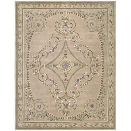 Nourison Versailles Palace Collection Free Form Rug Beige Area