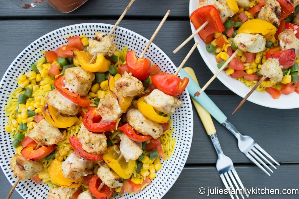Curry Spiced Chicken Kebabs