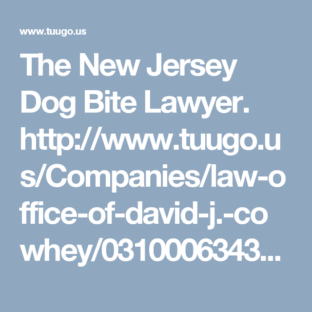 The New Jersey Dog Bite Lawyer. http//www.tuugo.us