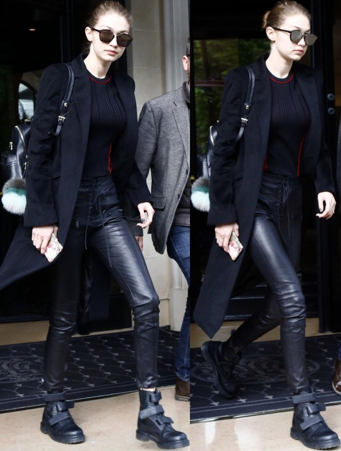 Gigi Hadid Cool In Dr Martens Coralia Boots And Tony