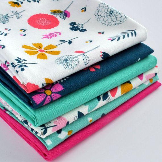 Cotton Candy 6-Piece Fat Quarter Bundle by SewmotionUK on Etsy