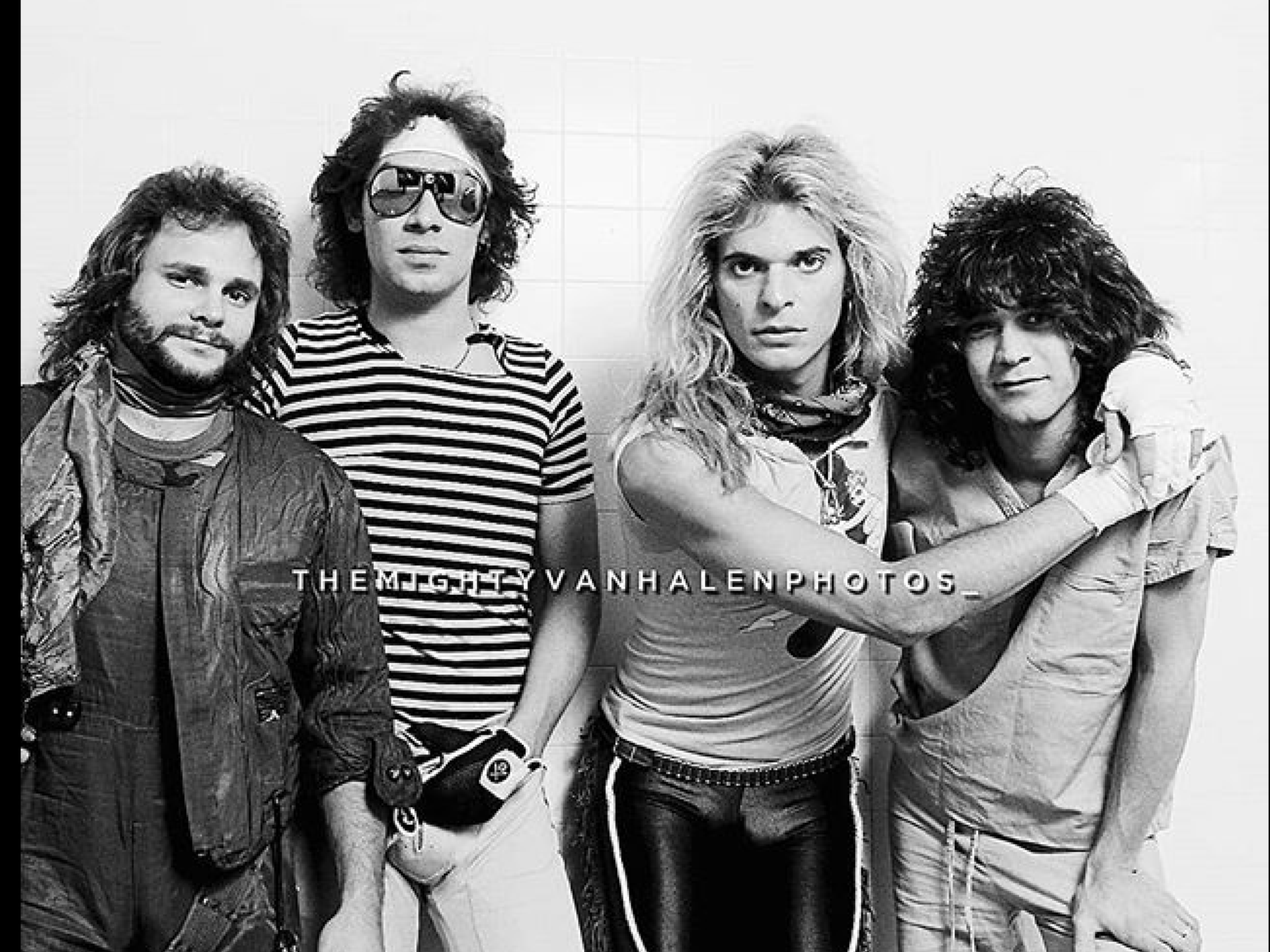 Michael Anthony Alex Van Halen David Lee Roth Eddie Van Halen Eddie Van Halen Van Halen Alex Van Halen