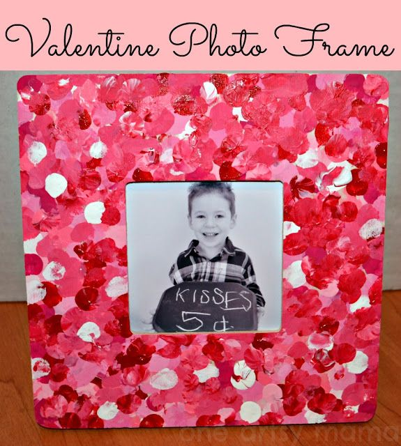 diy fingerprint frame unique diy picture frame ideas valentines valentine picture frames