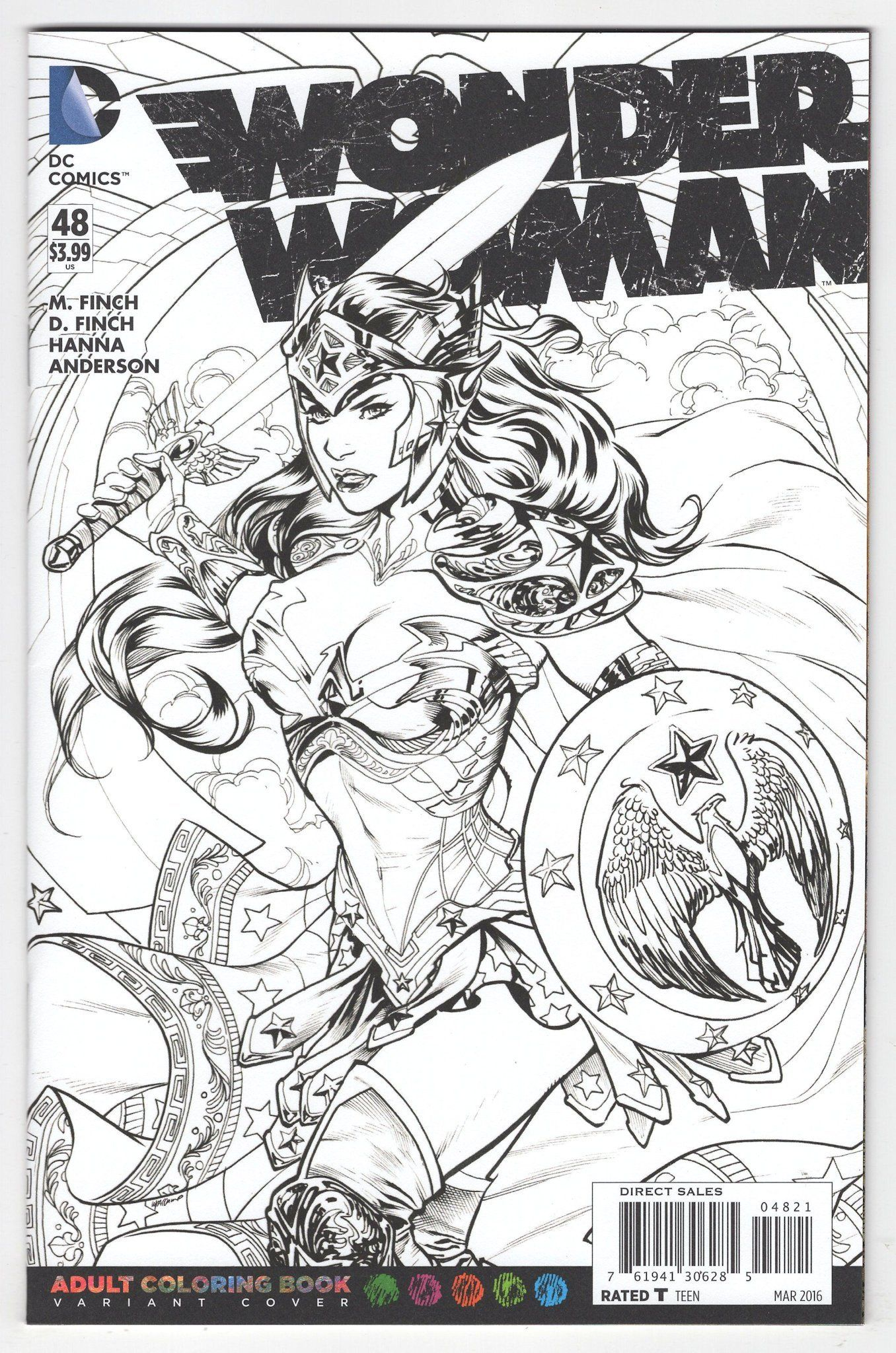 Wonder Woman 48 Emanuela Lupacchino Variant Cover 2016 Superhero Coloring Coloring Books Coloring Pages