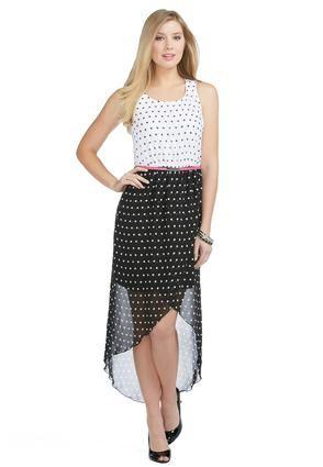 40205ea99aa Cato Fashions High – Low Sheer Polka Dot Dress – Plus  CatoFashions ...