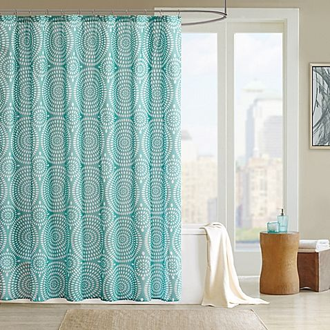 Add a fun, fresh updated look to your bathroom with the Madison Park Phoebe Shower Curtain. This dusty teal curtain is the perfect backdrop for the ivory, exploded floral motif.