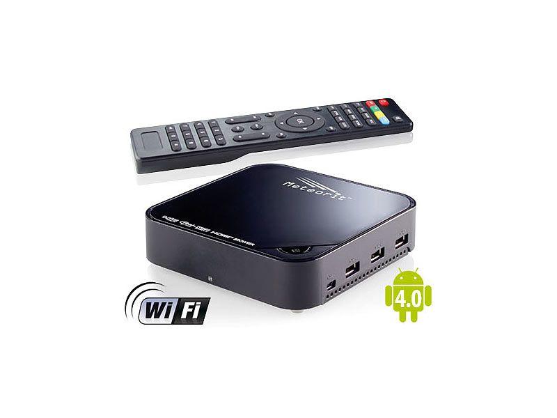 Meteorit Android Internet Tv Box Mit Hd Sat Receiver Mmb 525 Sat Internet Tv Set Top Box Internet Radio