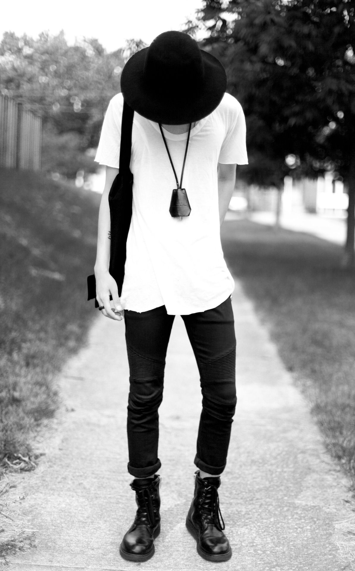 white t shirt black jeans shoes fashion men tumblr ...