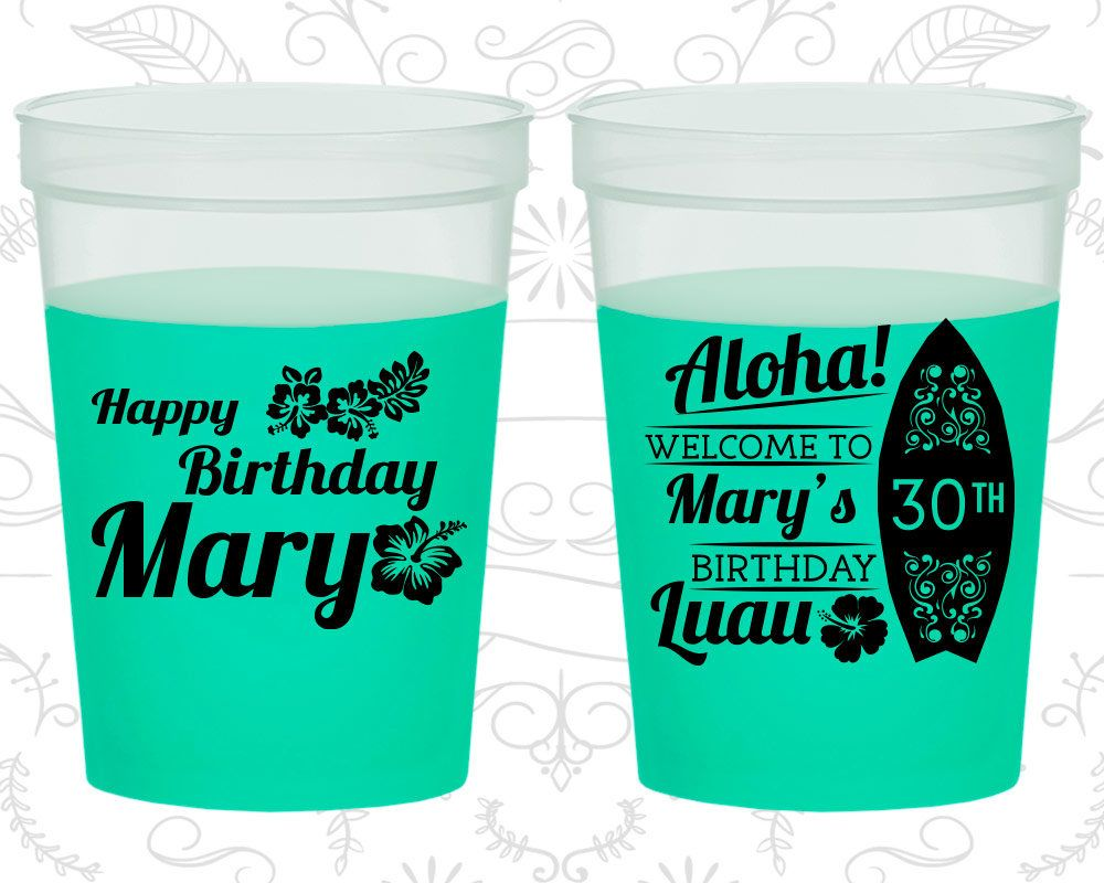 20179 Video Game Personalized 30th Birthday Favor Favor Cups Custom Cup