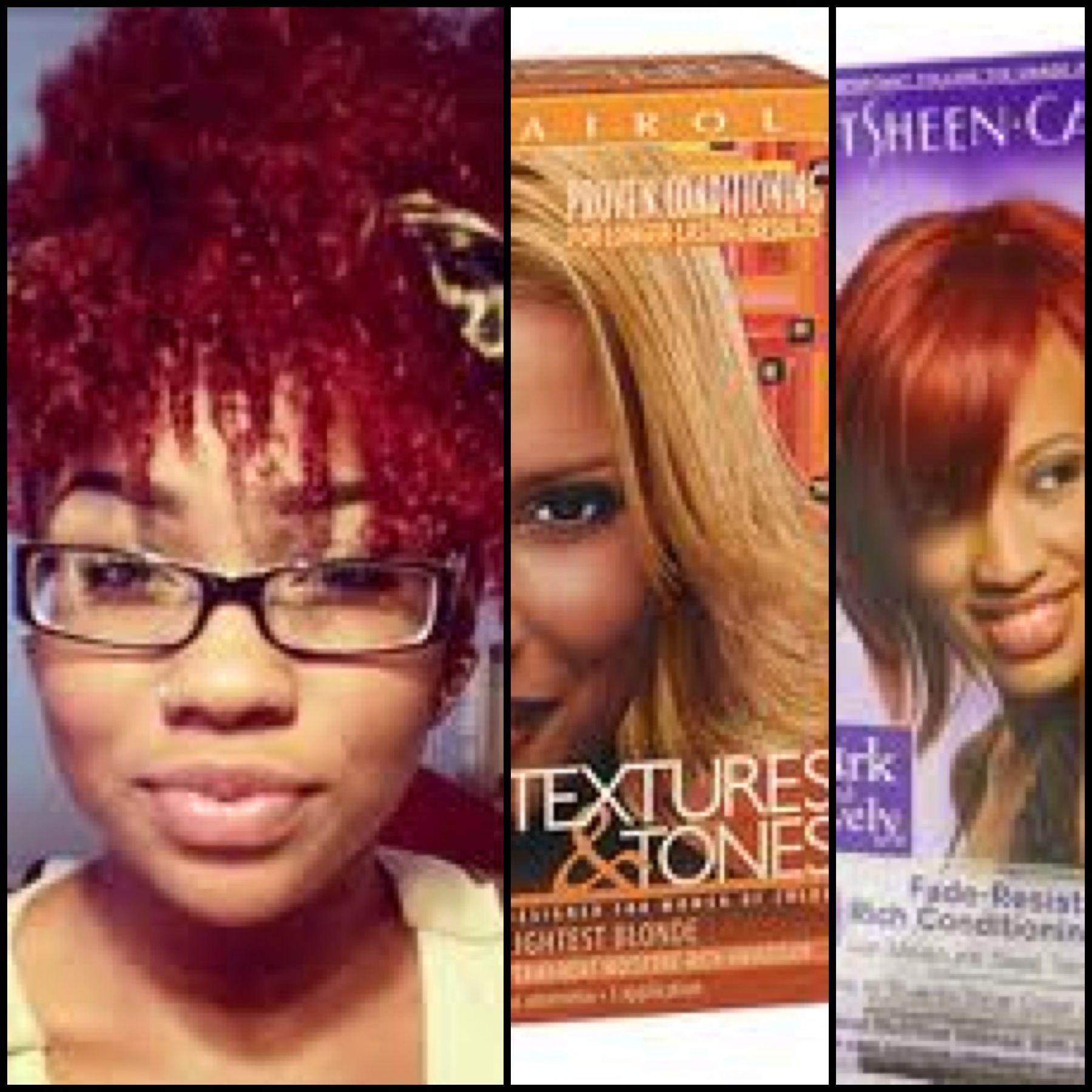 Dying natural hair Rihanna red, no bleach   Hair Doing   Pinterest ...