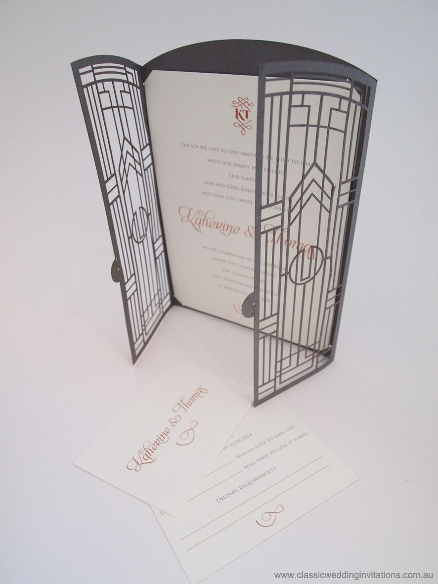 great gatsby wedding invitations Great Gatsby Gate Fold Wedding Invitation by Classic Wedding Invitations http