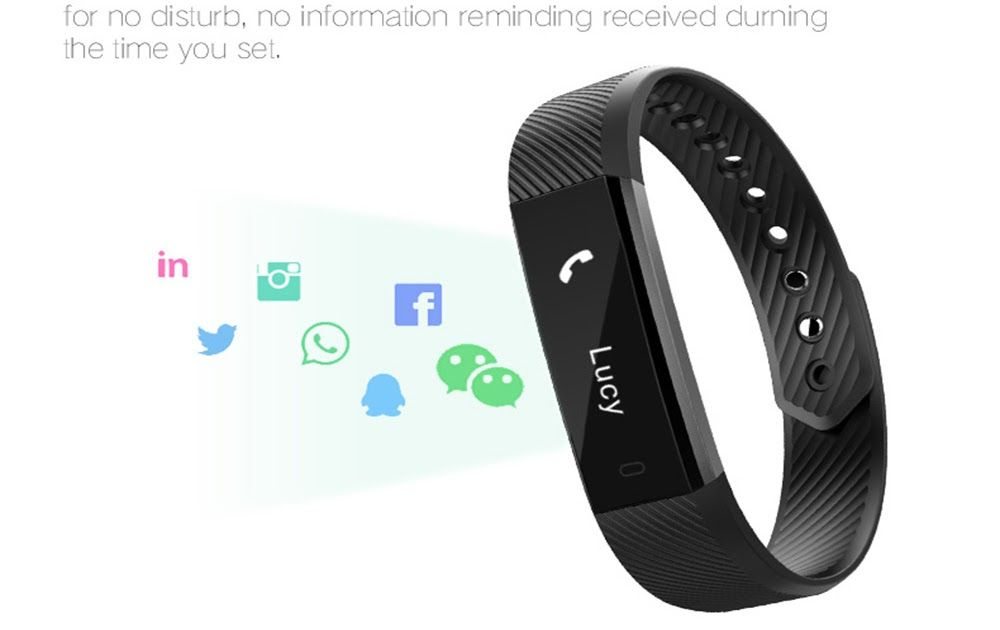 Cheapest givenone id115hr heart rate monitor smart band