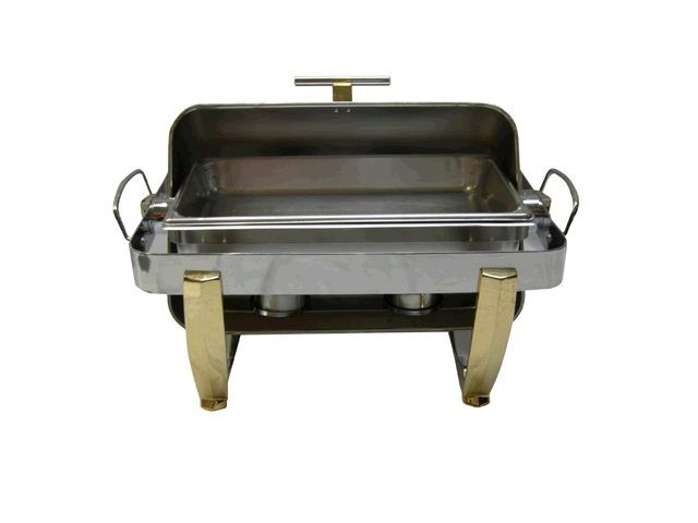 Chafer, Stainless/Brass 8qt Roll Top   #WilliamsPartyRentals #WilliamsSJ #wedding #chafer #sanjose #bayarea #rentals #party