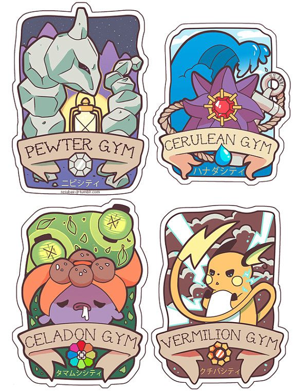 Hey, I found this really awesome Etsy listing at https://www.etsy.com/listing/188743206/pokemon-kanto-gym-badge-sticker-set