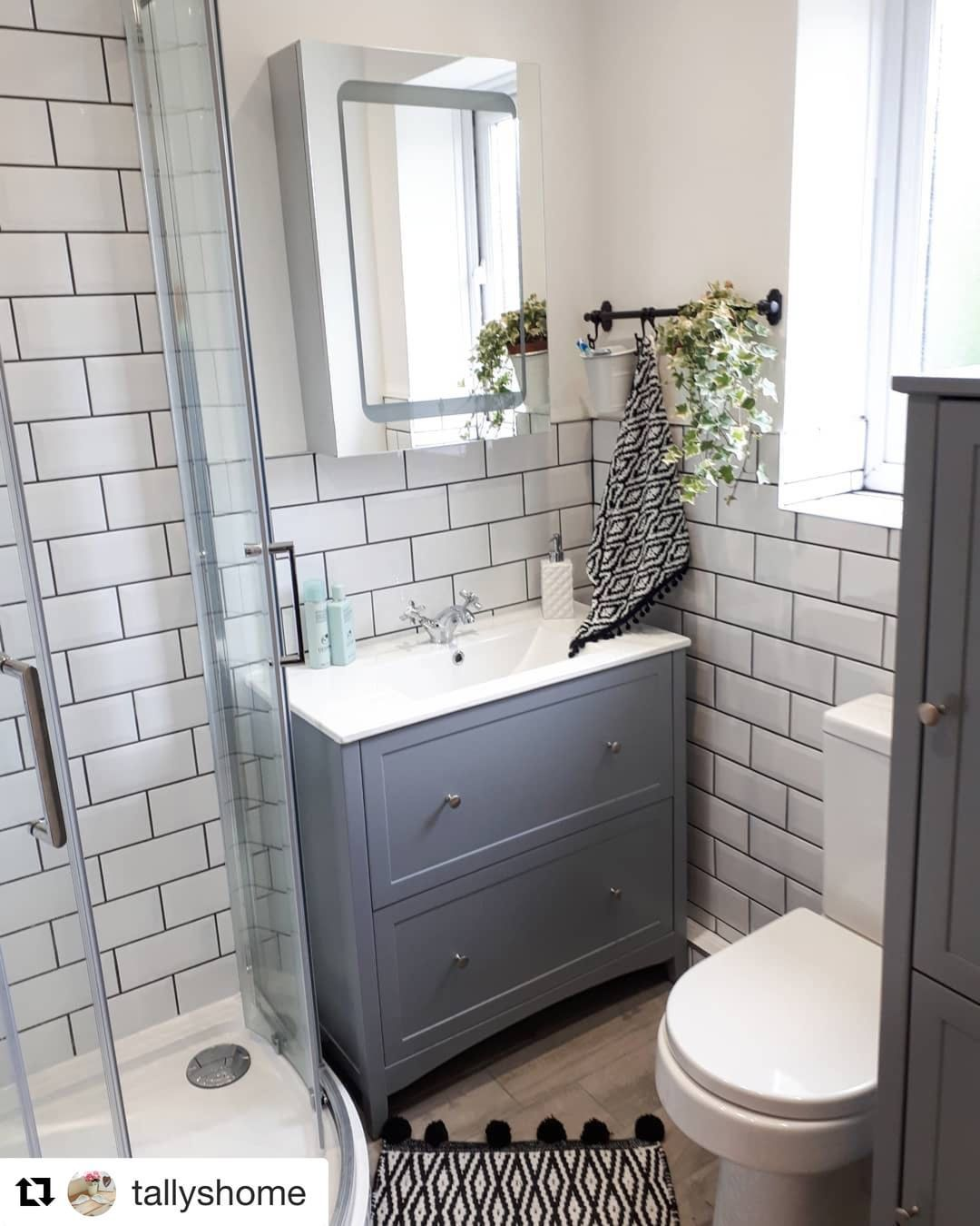 This Gorgeous Ensuite Was Shared With Us By Victoriaplum Com Customer Tallyshome We Re Glad You Got It Finished Have Bathroom Design Small Bathroom Ensuite