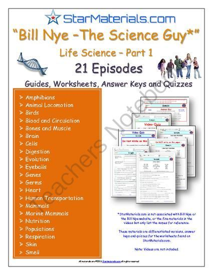 21 Episodes of Bill Nye The Science Guy Life Science Series ...