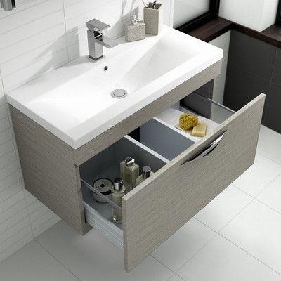 Hudson Reed Memoir 60cm Wall Mounted Unit Wash Stand Reviews Wayfair Uk Wall Hung Vanity Basin Cabinet Vanity Units