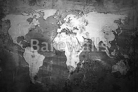 World map on abstract grunge background\