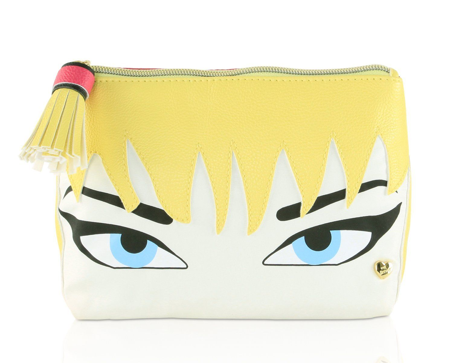 Betsey Johnson Cosmo Blonde Face Kitch Cosmetic Case - Fushia *** Be sure to check out this awesome product.