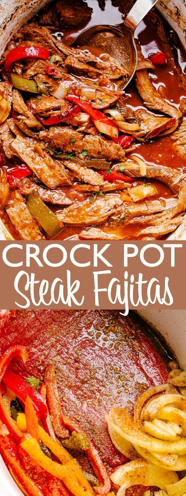 Crock Pot Steak Fajitas Recipe | Easy Crock Pot Dinner Idea