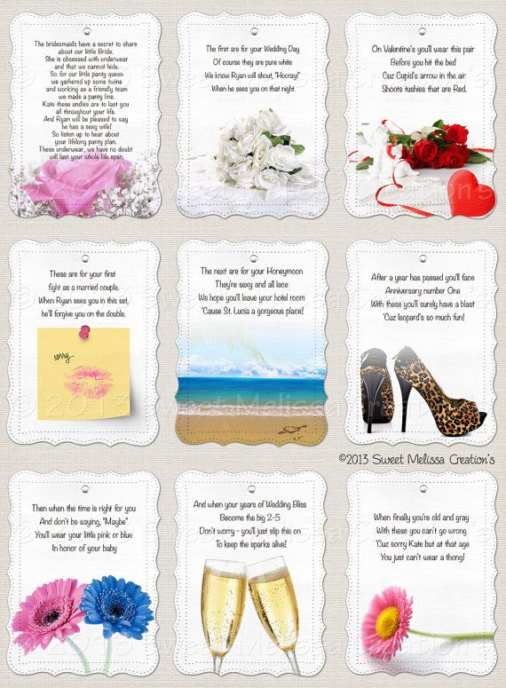 2a77449307 Lifelong Panty Line Poem - Bridal Shower - Bachelorette Party - Lingerie  Clothesline- Panty Poem - Cards by Sweet Melissa Creations   Gift ideas ...