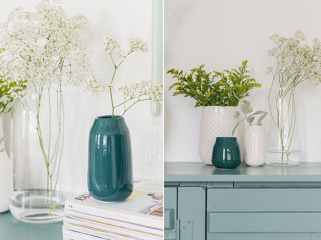 bloemen styling vazen blauw turquoise hema blog bintihome