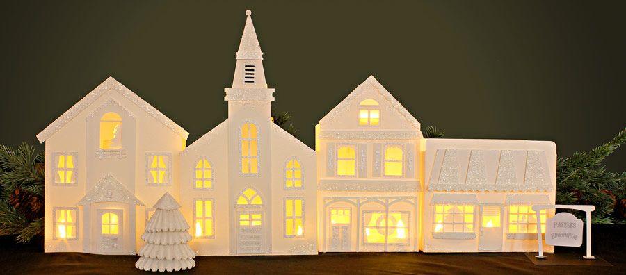 Pazzle Craft Room: Christmas Village Luminary