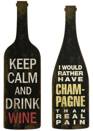 Bistro Wine & Champagne Quote Wall Art Set | Quotes ...
