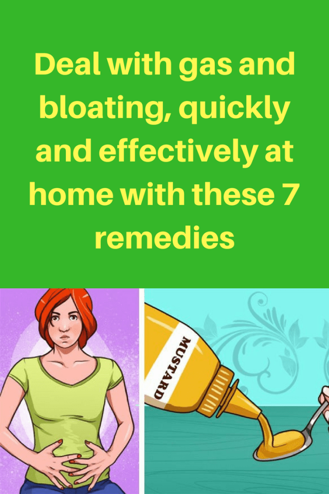 Deal with gas and bloating, quickly and effectively at home