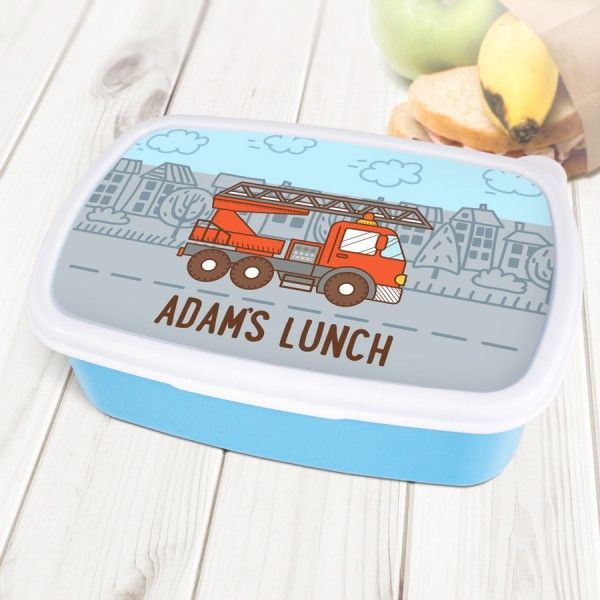 Shop Now! Fire Truck Person...  http://www.blueponystyle.com/products/fire-truck-personalised-blue-lunch-box-1?utm_campaign=social_autopilot&utm_source=pin&utm_medium=pin   #etsymntt #EtsySocial #ESLiving #EpicOnEtsy #etsyretwt #gift #ATSocialUK  #shopifypicks