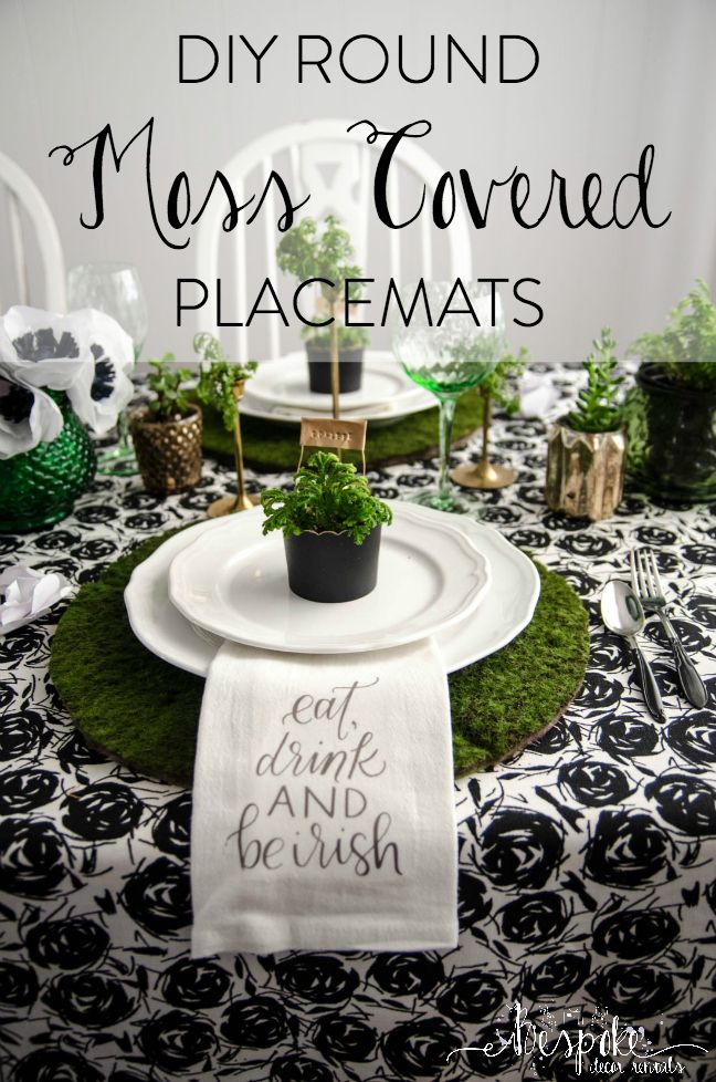 These Fabulous Diy Moss Placemats Are Just One Of The Many Projects From Our Class Diy St Patricks Day Decor Diy St Patrick S Day St Patrick S Day Decorations