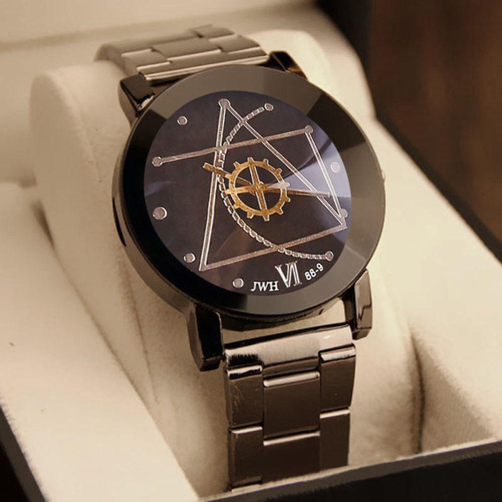 79e06a959bf Gofuly 2017 Novo Relógio de Luxo de Moda Relógio para o Homem de Aço  Inoxidável Quartzo Analógico Relógio de Pulso Orologio Uomo Qu…