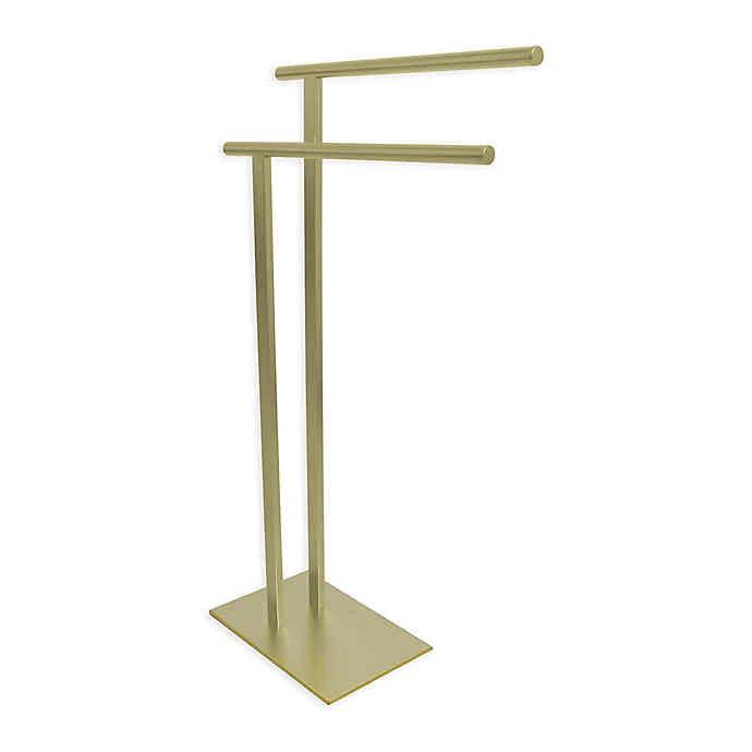 Kingston Brass Freestanding Towel Holder Bed Bath Beyond In 2020 Kingston Brass Towel Holder Towel Rack Bathroom