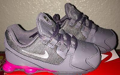 Little Girls Nike Shox Avenue Running Shoes Toddler size 9 C Pink / Gray NIB