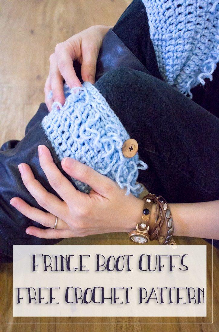 Fringe boot cuffs free crochet pattern boot toppers easy gifts fringe boot cuffs free crochet pattern bankloansurffo Gallery