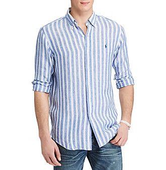 10fa94842ea1ee Polo Ralph Lauren® Striped Linen Shirt   Products   Pinterest   Polo ...