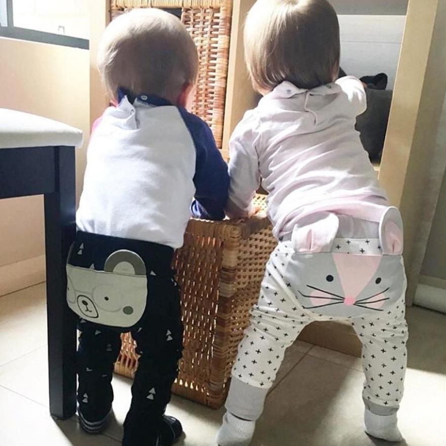dd28e1451 Cute Baby Harem Pants Kids Boys Girls Leggings Pants Elastic Waist ...
