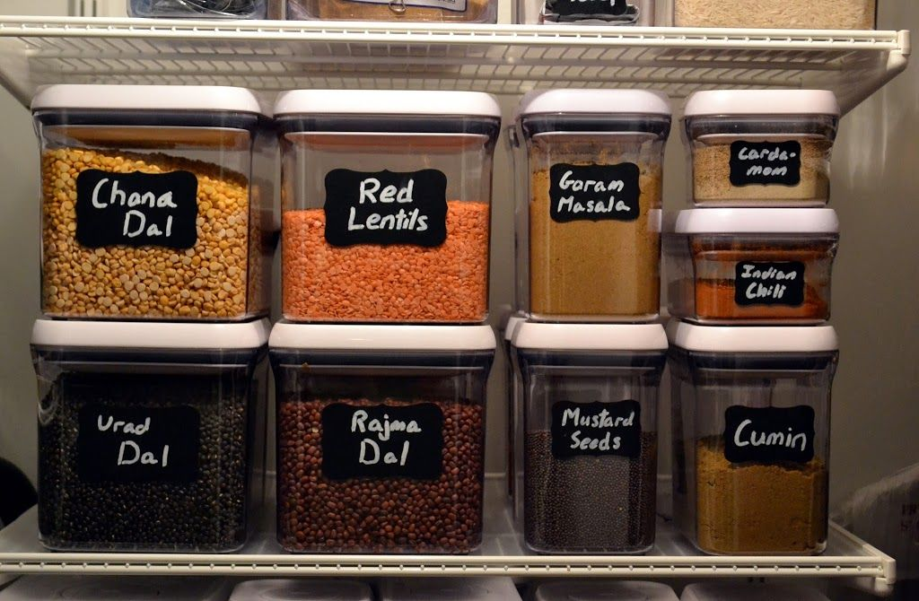 Beautiful Stackable Storage Containers And Chalkboard Labels | New York Food Journal