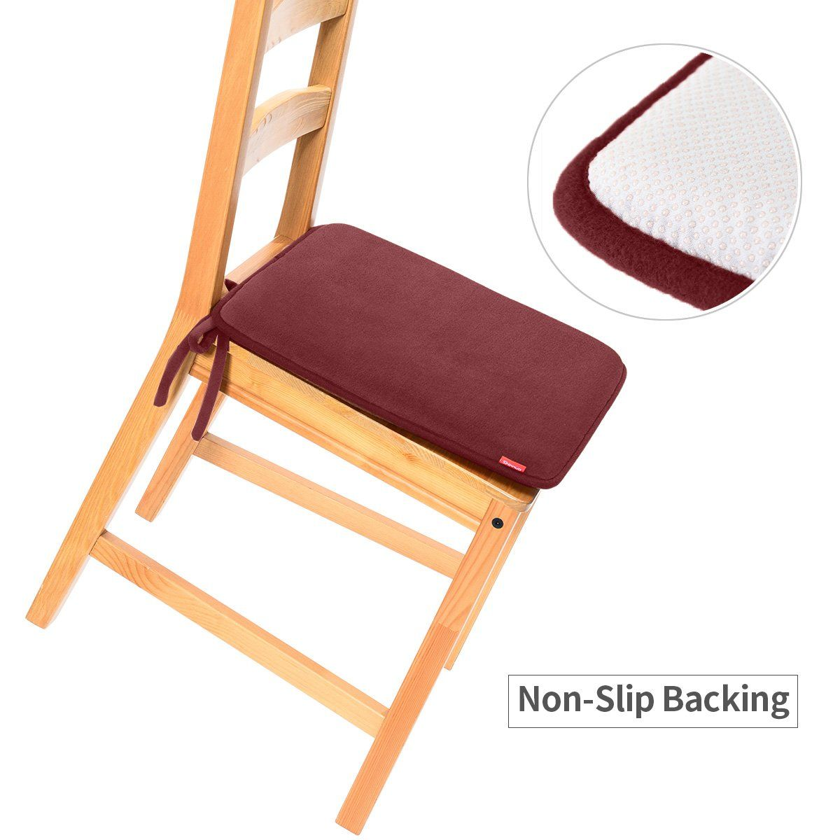 Dining Chair Pads2 Pack Non Slip Memory Foam Kitchen Chair