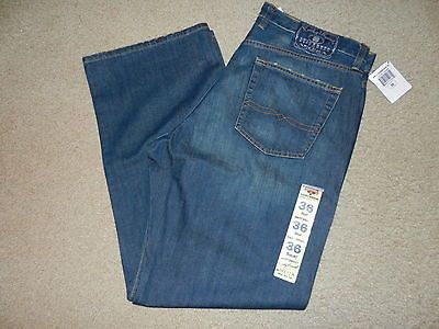 NEW Lucky Brand Dungarees Mens Jeans Size 36 Short Dark 36 x 30 Boot Cut Relaxed