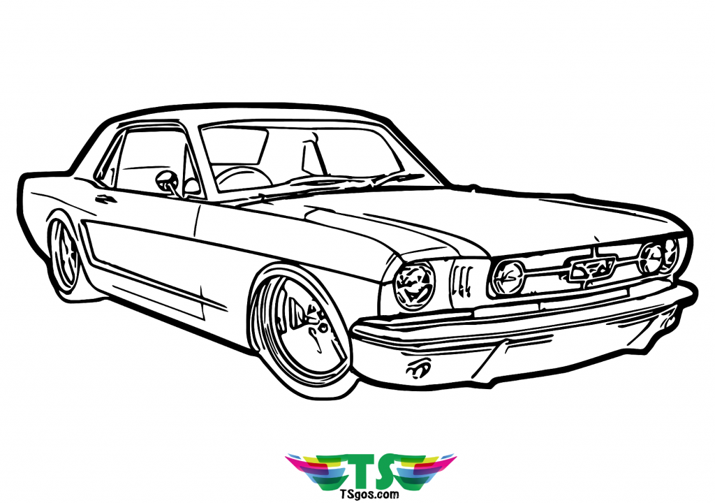 Muscle Car coloring page for kids in 2020   Cars coloring ...