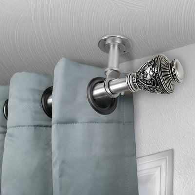 Astoria Grand Dewitt Single Curtain Rod Size 160 240 L Colour