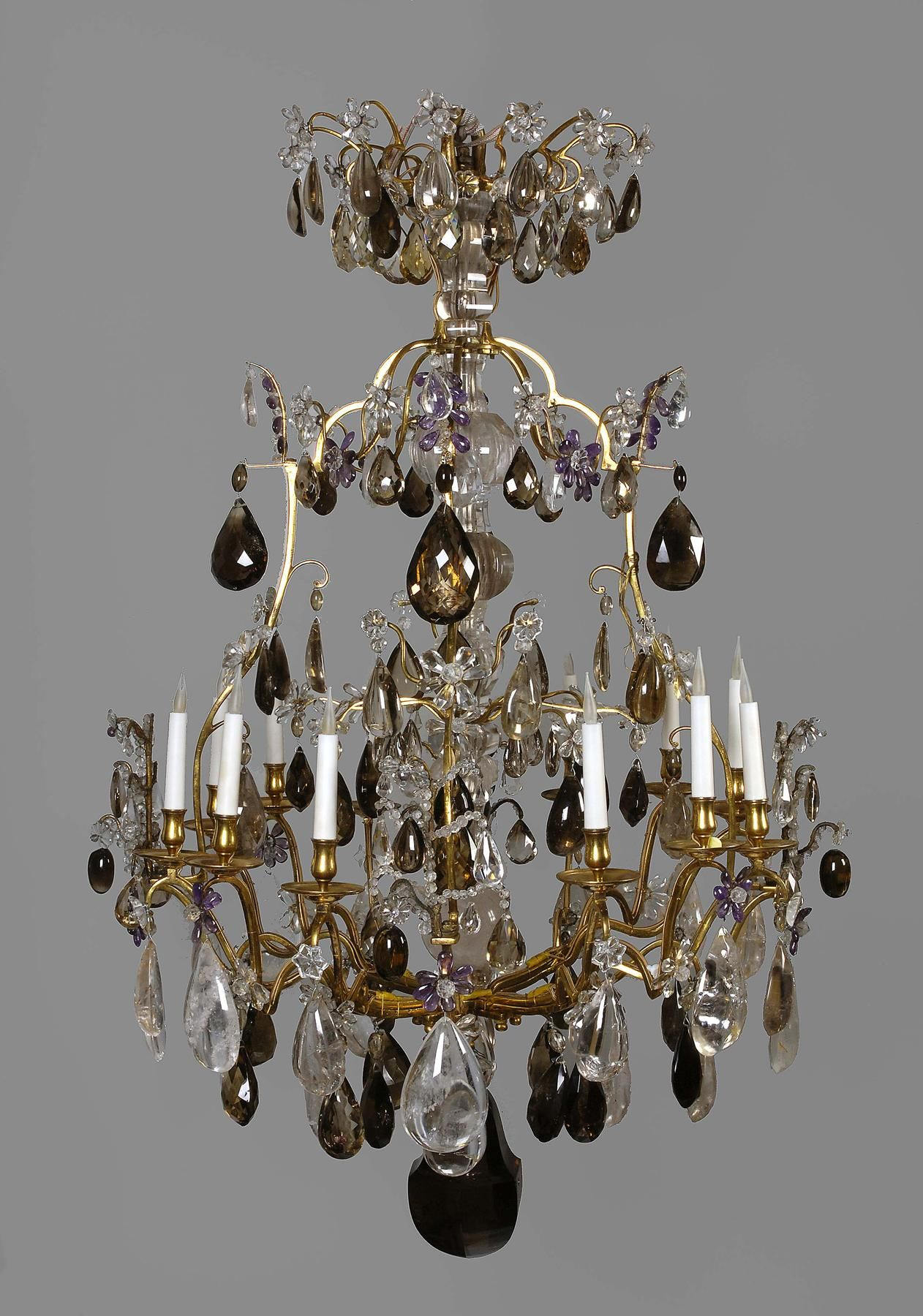 A French Ormolu Rock Crystal Twelve Light Chandelier France Louis Xv Period First Half 18th Century