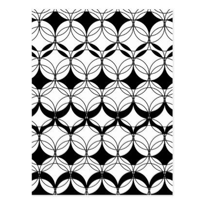 #Abstract pattern - black and white. postcard - #Xmascards #ChristmasEve Christmas Eve #Christmas #merry #xmas #family #holy #kids #gifts #holidays #Santa #cards