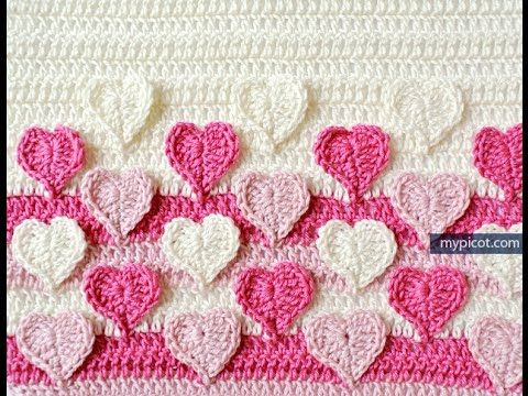 How to crochet Rosebud Stitch / My My Picot Pattern (Written ...