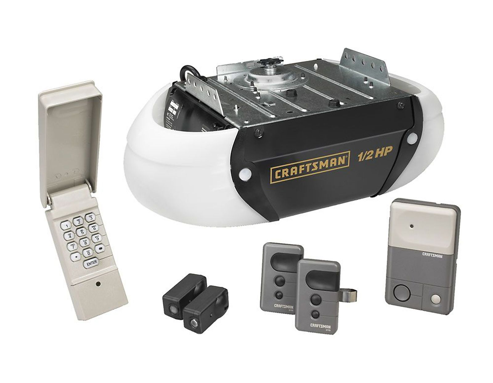 1 2 Hp Garage Door Opener Opens Only For You Come Home To A Wonderful Reception With Thi With Images Garage Door Opener Installation Garage Door Opener Repair Garage Doors